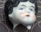 1 Victorian Antique Vintage Frozen Charlotte Doll Head. Excavated from Germany.  Penny Doll Collectable, Assemblage, Mixed Media