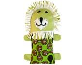 Lion, Green, Gray Stuffed Animal, Toy, Handmade, Fair Trade, Artisan, Malawi, Africa, African Print, Baby, Toys, Free Shipping, LTF-045