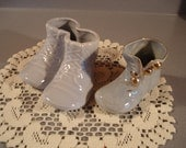 Vintage Pottery Baby Shoes/   Florist Planter/ Home Decor/ Baby Shower /Dresser Container/  Cute!! San Carlos Pottery #221