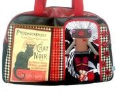 """Bag molly creative bag unique bag n42 """"Le chat noir"""""""