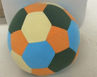 Fabric Soccer Ball- Orange Green Blue Yellow