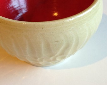 Item 272 Red and Yellow Etched Small Bowl