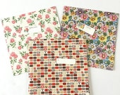 SALE 20% Off NON-LINENS Lot 3 Vintage Wrapping Papers Full Unused Sheets Gift Tags Daisies Roses Happy Birthday