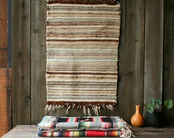 Vintage Woven Rug Wall Hanging or Horse Blanket Soft Wool Soft Colors Vintage From Nowvintage on Etsy