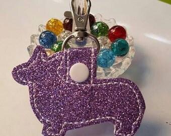 Corgi Keychain Lavender Gitter