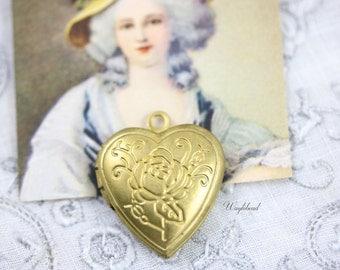 Brass Heart Shaped Lockets - 4