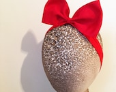 Made to Match Snow White Red bow girls stretch headband Halloween Costume Prop