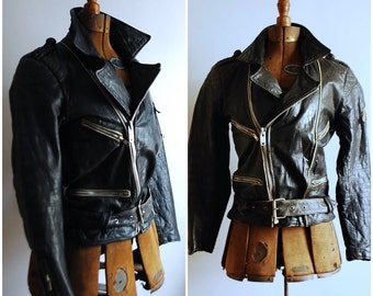 Amazing Vintage Leather Biker Jacket