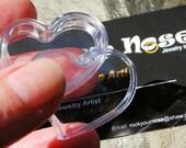 Heart Storage Box / Tiny Jewelry Storage / Nose Jewelry Storage / Little Hoop Storage