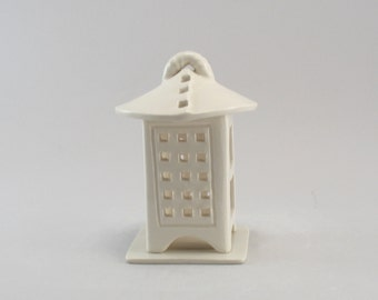 Tea Light Holder, Tea Light Candleholder, Tea Light Lantern, Ceramic Lantern, Ready to Ship