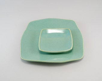 Ceramic Plate, Appetizer Set, Tapas Plate, Plate Set, Celadon Plate, Ready to Ship.