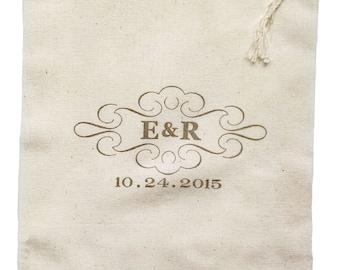 Wedding Welcome Cloth Bag Custom Print - 8x12 inch - 50 pack