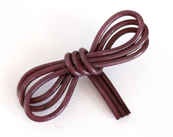 Vintage Celluloid Bow Pin Brooch Costume Jewelry