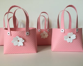 Paper Purses Tiny Tote Baby Shower Birthday Bridal Shower Favor Gift Boxes