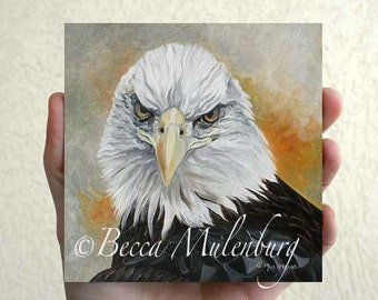Bald Eagle Original oil painting nature wildlife miniature fine art