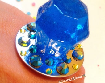 Ring Pop, Ring Pop Ring, Candy Jewelry, Resin Jewelry, Resin Ring, Kawaii Jewelry, Jewelry Art, Candy Ring, Kitsch Jewelry