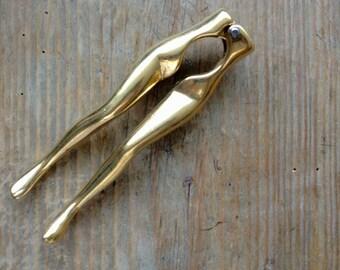 Vintage Brass  Nut Cracker