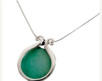 On Sale Roman Glass necklace on silver