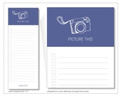 picture this notepads // camera // photographer  // photo