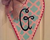 Heart Door Hanger, Personalized
