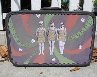 """Upcycled suitcase, """"Swimsuitcase"""""""
