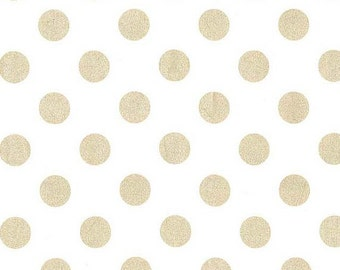 Quarter Dot Pearlized in Glimmer Michael Miller Fabric, Choose your cut