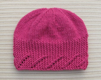 """Instant Download #216 Knitting Pattern Hat """"Sofia"""" for a Lady"""