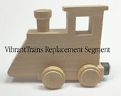 Unfinished Wood Name Train Replacement Segment NOT painted