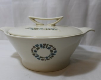 "Rare Canonsburg Pottery ""Temporama"" Covered Serving Bowl"