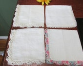 Ladies Handkerchief 4 Edged with Tatting