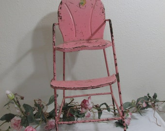 Metal Doll Highchair 1950s Amsco Shabby Delight
