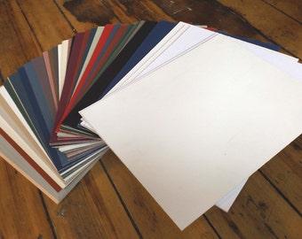 "74 sheets of Matboard 11"" X 14 1/8"" various colors Picture Frame Matting Uncut Mats Mat Board"