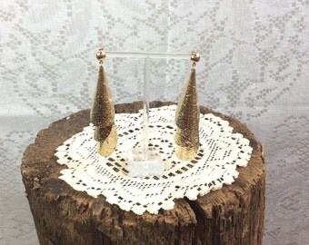 Vintage Gold Curl Tiered Earrings