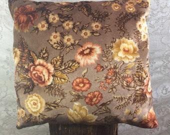 Large Vintage Floral Pillow