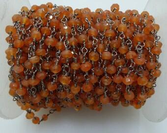 carnelian rosary chain