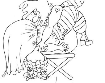 the waterfall sexy coloring pages for adults from the chubby art cartoon colouring book for