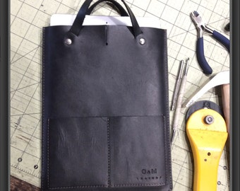 Handcrafter ipad sleeve with handles
