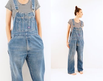 vintage 70s DISRESSED sanforized BIG SMITH overalls M