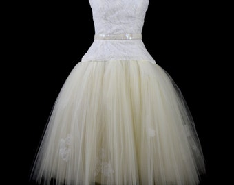 Juno - Lace Tulle Ballet Wedding Dress - Made to Order
