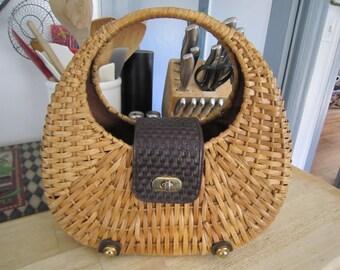 Rattan Adrienne Vittadini Handbag Awesome