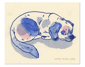 Hand painted Dog Print 03