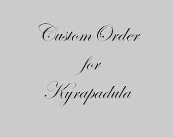 Custom Order for Kyrapadula - Wedding Clutch, Bridal Purse, Bride Clutch, Bridesmaids, Wedding Gift