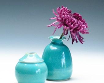 Aqua Green Small Bud Vase