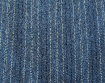 Blue Coverlet Felted Wool Fabric / One Fat Quarter or One Fat Eighth Yard in 100% Wool