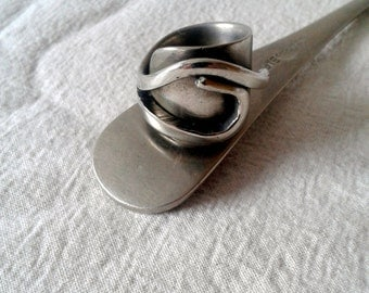 Upcycled ring size 8 - Spoon handle ring