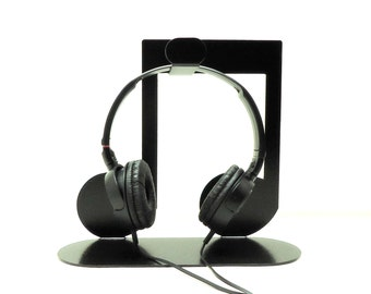 Eighth Note Headphone Stand Metal Art - Free USA Shipping