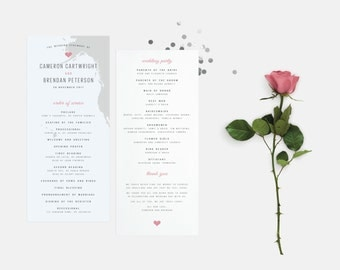 The Tansey Wedding Ceremony Programs - Printed and Printable