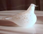 Lovely Finnish  blown glass bird figurine...