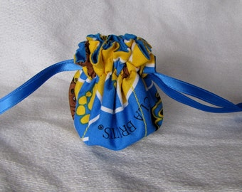 College Team Bag - Mini Sized - Jewelry Bag  - Fabric Tote Pouch for Jewelry UCLA BRUINS
