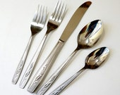 Shop Sale Vintage 1960s Oneida Autumn Memory Stainless 44 Pc Spare Flatware Set / Almost Service for 8 Plus Extras